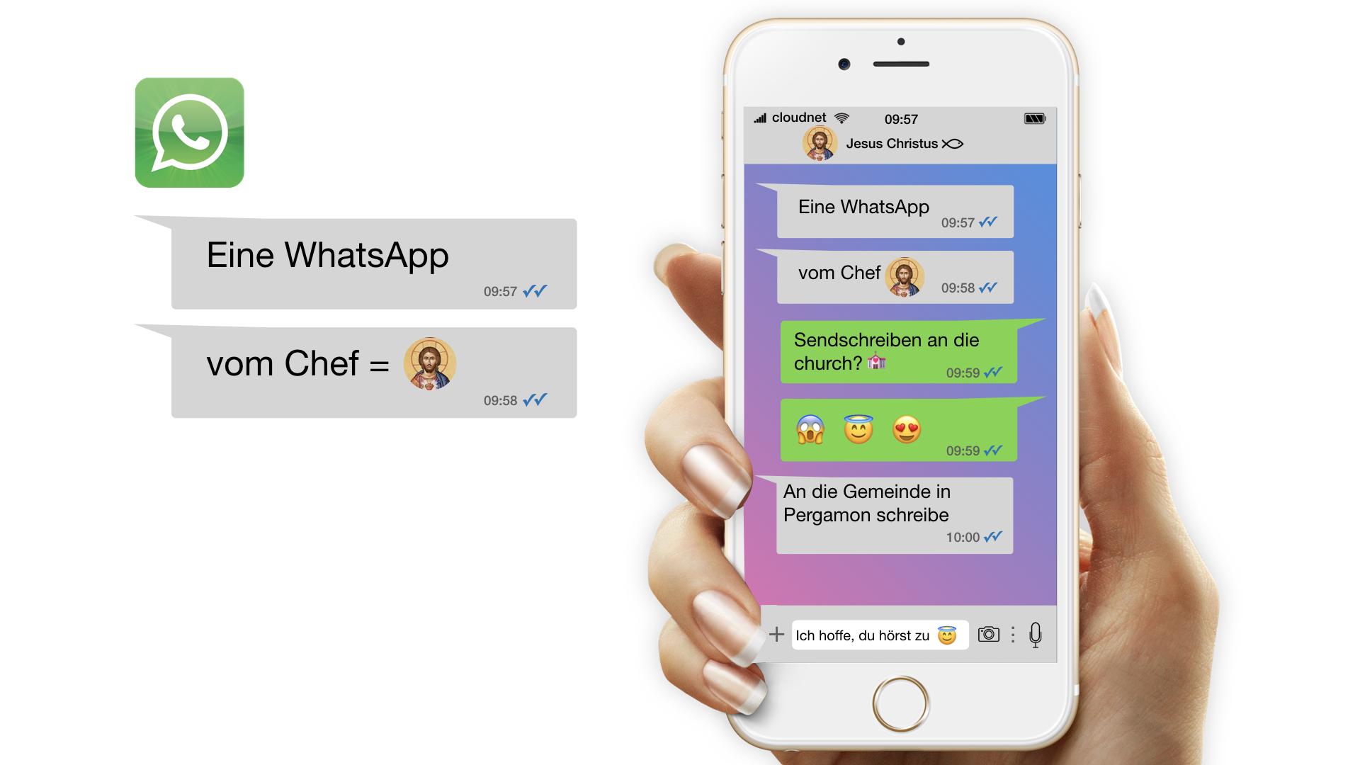 Eine WhatsApp vom Chef / Gemeinde in Pergamon