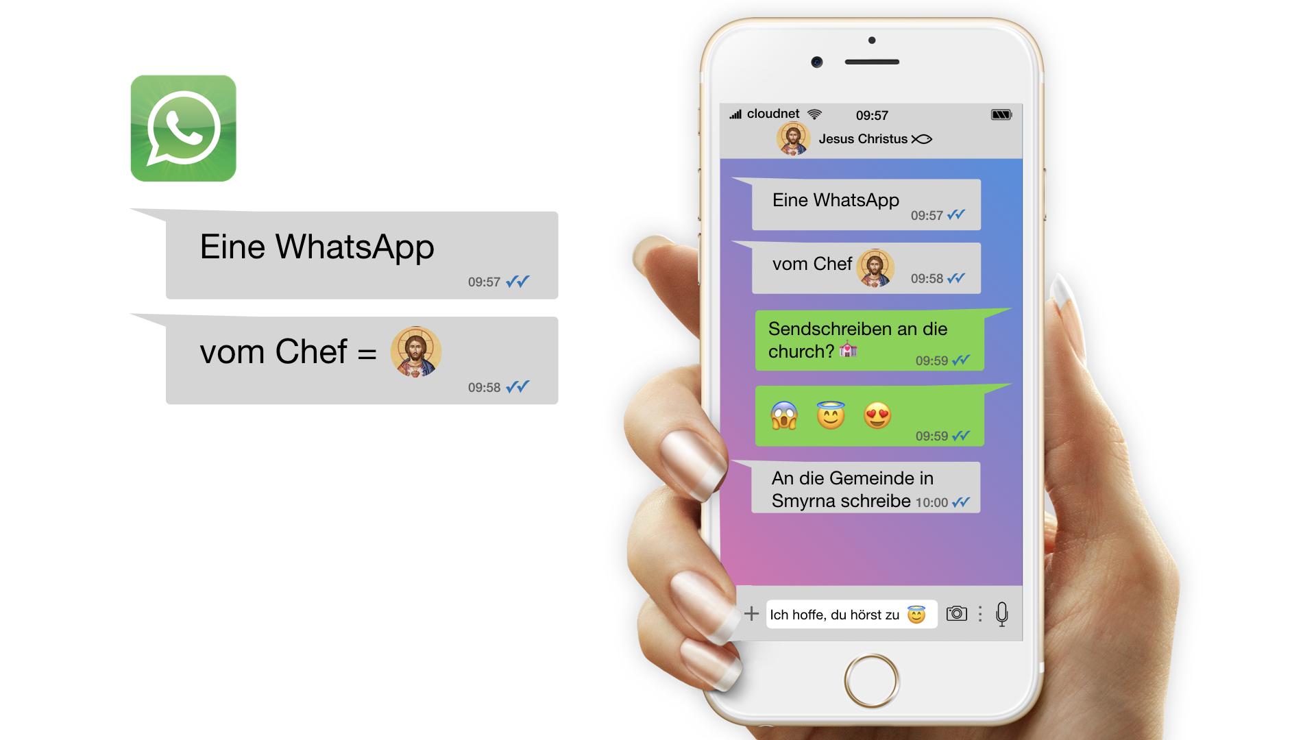 Eine WhatsApp vom Chef / Gemeinde in Smyrna