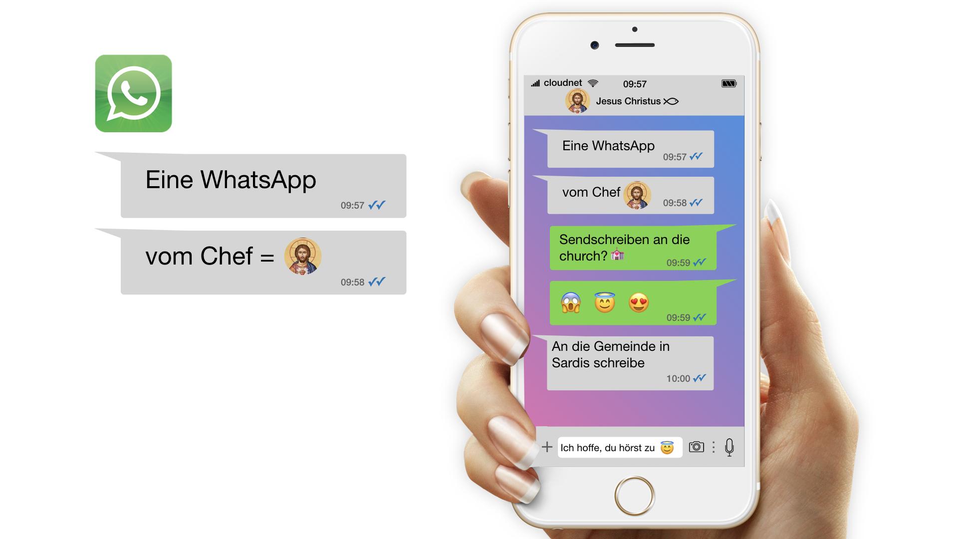 Eine WhatsApp vom Chef / Gemeinde in Sardis